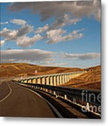 Viaduct In The Sicilian Countryside Metal Print