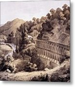 Viaduct On Cheat River, From Album Metal Print