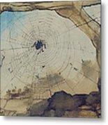 Vianden Through A Spider's Web Metal Print by Victor Hugo