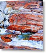 Vibrant Colored Rocks Verzasca Valley Switzerland Metal Print