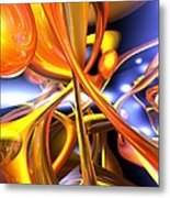 Vibrant Love Abstract Metal Print