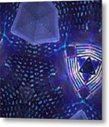 Vibrant Shades Of Blue 7 Metal Print