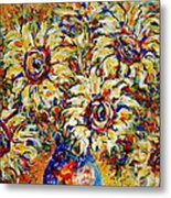 Vibrant Sunflower Essence Metal Print