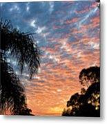 Vibrant Winter Sunset Metal Print