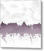 Victoria British Columbia Skyline - Purple 03 Metal Print