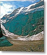 Victoria Glacier From Plain Of Six Glaciers In Banff Np-alberta Metal Print