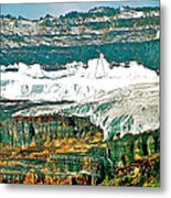 Victoria Glacier From Plain Of Six Glaciers Trail In Banff Np-ab Metal Print