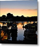 Victoria Harbor Sunset 3 Metal Print