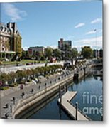 Victoria Harbour With Empress Hotel Metal Print