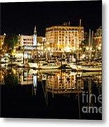 Victoria Inner Harbour At Night Metal Print