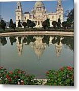 Victoria Memorial Kolkata India - Reflection On Water Metal Print