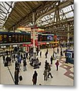 Victoria Railway Station London  Metal Print