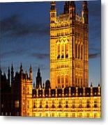 Victoria Tower - London Metal Print