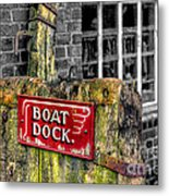 Victorian Boat Dock Sign Metal Print by Adrian Evans