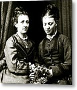 Victorian Girlfiends Metal Print
