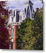 Victorian Home In Autumn Photograph As Gift For The Holidays Print Metal Print