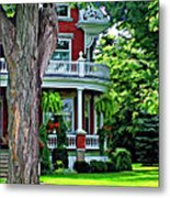 Victorian Home Painted Version Metal Print