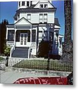 Victorian House In San Francisco Metal Print