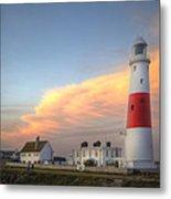 Victorian Lighthouse At Sunset Metal Print