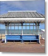 Victorian Shelter - Weymouth Metal Print