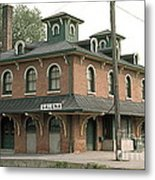 Victorian Train Station Galena Illinois Metal Print