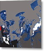 Victoriano Huerta Emilio Madero And Pancho Villa On The Right Ciudad Chihuahua May 1912-2014 Metal Print