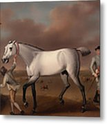 Victorious At Newmarket Metal Print
