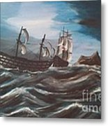 Victory At Gibraltar Metal Print