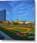 Victory Field Home Plate Metal Print by David Haskett