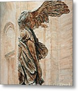 Victory Of Samothrace Metal Print by Joey Agbayani