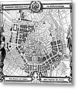 Vienna: Plan, 1860 Metal Print
