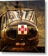 Vietnam Era Medivac 369 Helicopter Metal Print