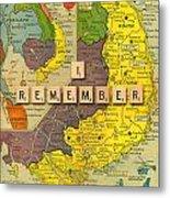 Vietnam War Map Metal Print