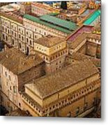 View Above Downtown Of Rome Metal Print
