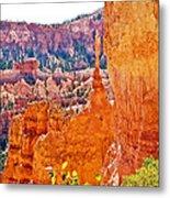 View At Beginning Of Navajo Trail In Bryce Canyon National Park-utah Metal Print
