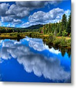 View At The Green Bridge - Old Forge New York Metal Print