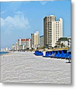 View Down A Quiet Beach Metal Print by Susan Leggett