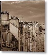 View Down Rue Beauregard Metal Print