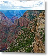 View Five From Walhalla Overlook On North Rim Of Grand Canyon-arizona Metal Print