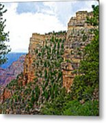 View Four From Walhalla Overlook On North Rim Of Grand Canyon-arizona Metal Print