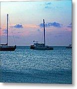 View From A Catamaran3 - Aruba Metal Print