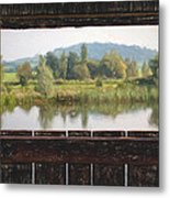 View From A Hide Impressions Metal Print