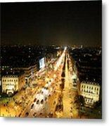 View From Arc De Triomphe - Paris France - 011318 Metal Print
