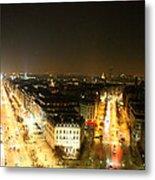 View From Arc De Triomphe - Paris France - 01138 Metal Print by DC Photographer