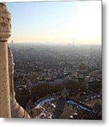 View From Basilica Of The Sacred Heart Of Paris - Sacre Coeur - Paris France - 011310 Metal Print
