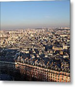 View From Basilica Of The Sacred Heart Of Paris - Sacre Coeur - Paris France - 011328 Metal Print by DC Photographer