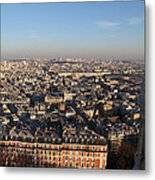 View From Basilica Of The Sacred Heart Of Paris - Sacre Coeur - Paris France - 011330 Metal Print by DC Photographer