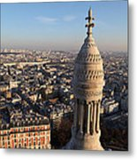 View From Basilica Of The Sacred Heart Of Paris - Sacre Coeur - Paris France - 011332 Metal Print