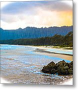 View From Bellows At Kaneohe Metal Print