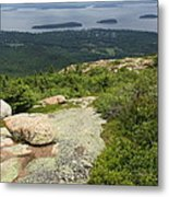 View From Cadillac Mountain - Acadia Park Metal Print